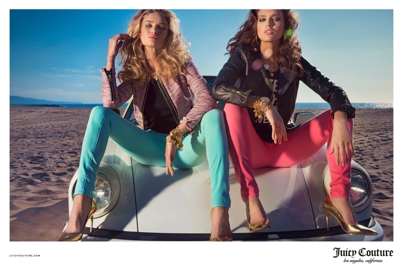 juicy couture spring 2014 campaign5 Rosie Huntington Whiteley & Emily DiDonato Land Juicy Couture Spring/Summer 2014 Campaign