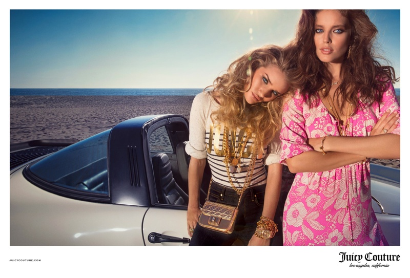 juicy couture spring 2014 campaign6 Rosie Huntington Whiteley & Emily DiDonato Land Juicy Couture Spring/Summer 2014 Campaign
