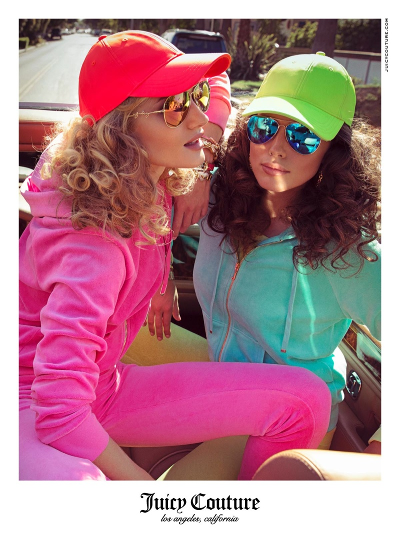 juicy couture spring 2014 campaign8 Rosie Huntington Whiteley & Emily DiDonato Land Juicy Couture Spring/Summer 2014 Campaign