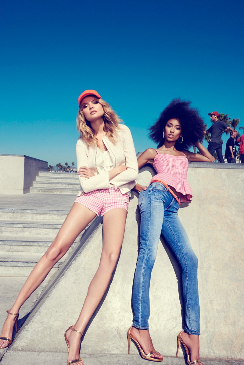 juicy couture venice beach10 Magdalena Frackowiak + Anais Mali Hit Venice Beach for Juicy Couture