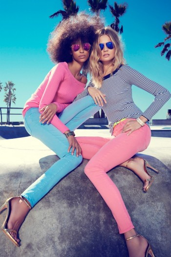 Magdalena Frackowiak + Anais Mali Hit Venice Beach for Juicy Couture