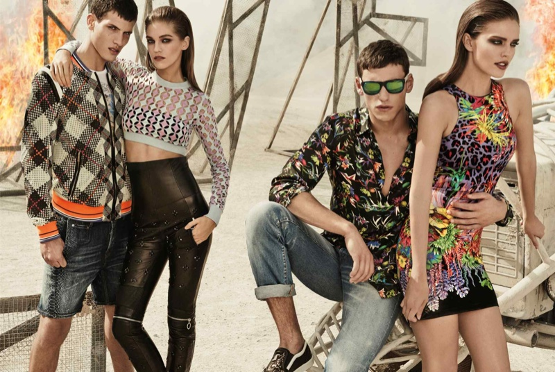 just cavalli spring summer 2014 campaign1 Emily DiDonato + Samantha Gradoville Front Just Cavalli Spring/Summer 2014 Campaign