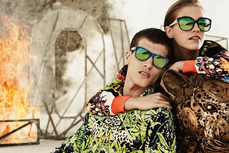 just cavalli spring summer 2014 campaign11 Emily DiDonato + Samantha Gradoville Front Just Cavalli Spring/Summer 2014 Campaign