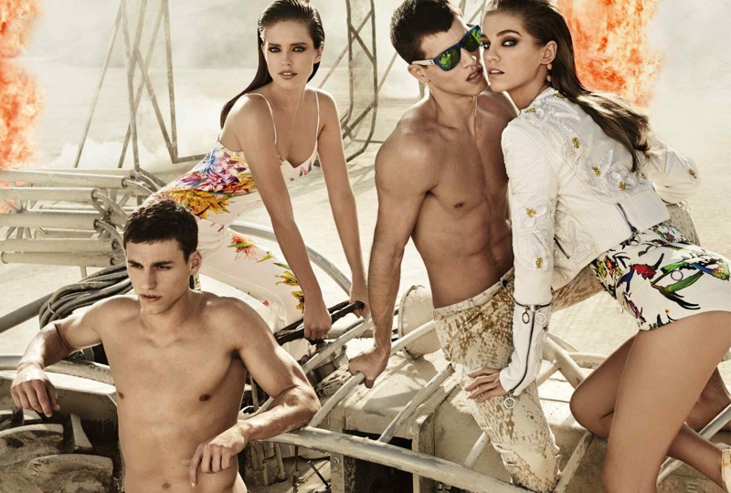 Emily DiDonato + Samantha Gradoville Front Just Cavalli Spring/Summer 2014 Campaign