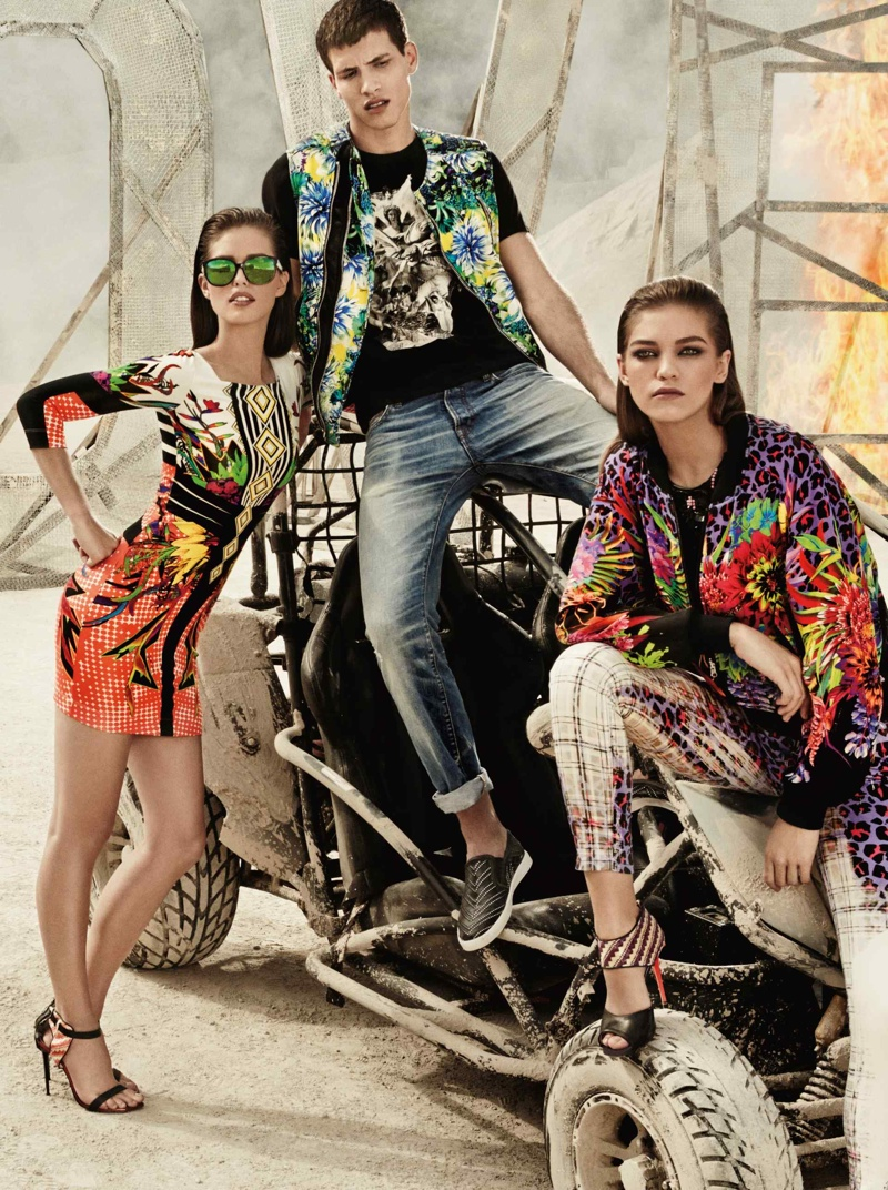 just cavalli spring summer 2014 campaign3 Emily DiDonato + Samantha Gradoville Front Just Cavalli Spring/Summer 2014 Campaign