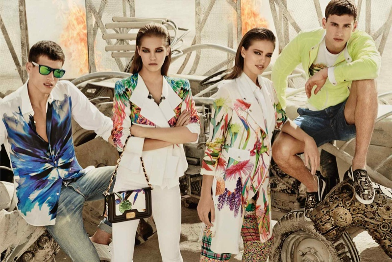 just cavalli spring summer 2014 campaign4 Emily DiDonato + Samantha Gradoville Front Just Cavalli Spring/Summer 2014 Campaign