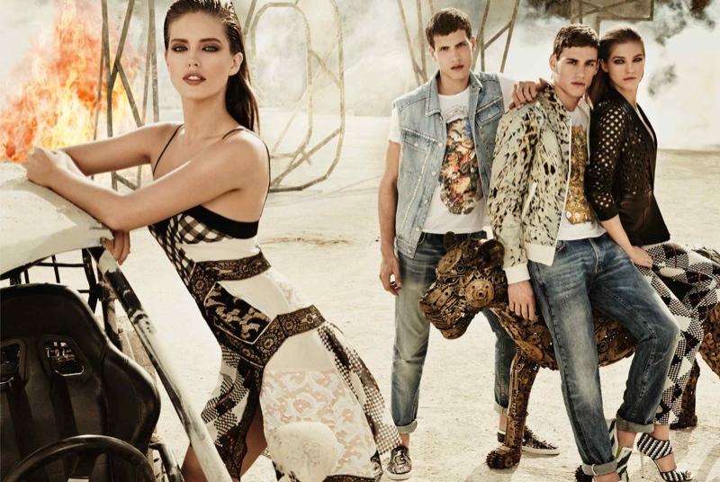 just cavalli spring summer 2014 campaign5 Emily DiDonato + Samantha Gradoville Front Just Cavalli Spring/Summer 2014 Campaign