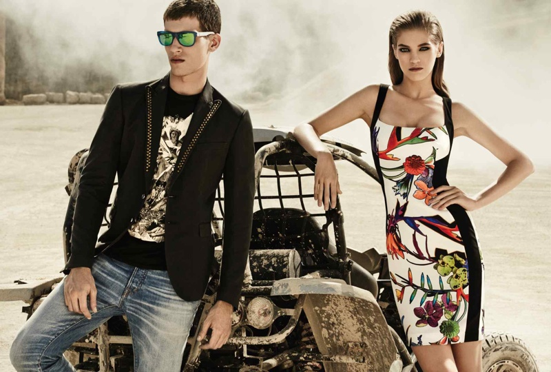 just cavalli spring summer 2014 campaign9 Emily DiDonato + Samantha Gradoville Front Just Cavalli Spring/Summer 2014 Campaign