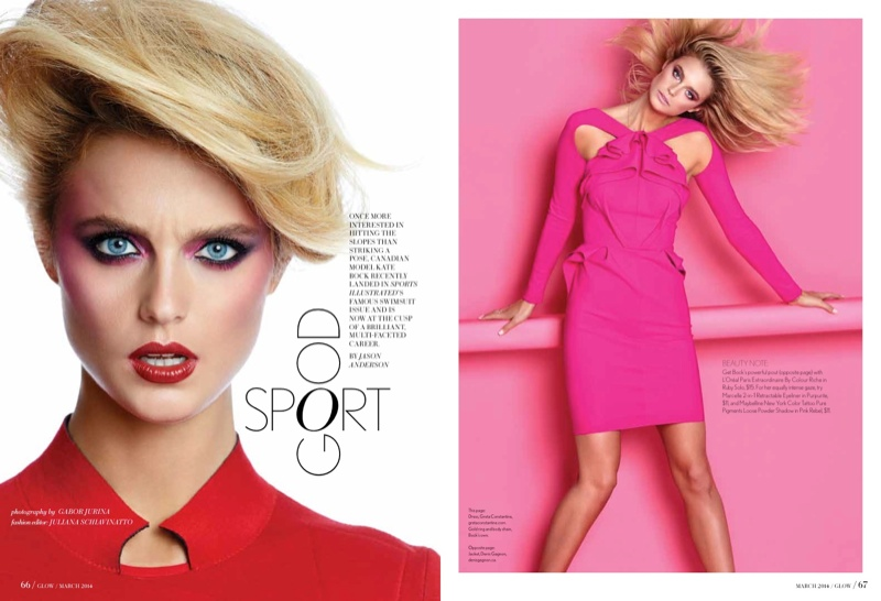 Kate Bock is Sporty Chic for Glow Magazine March 2014