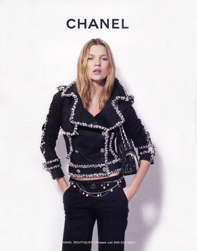 kate chanel spring 2004 ad Happy Birthday Kate Moss! TBT Photos as The Supermodel Turns 40