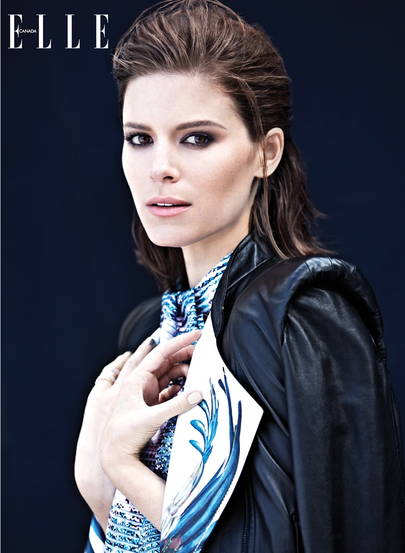 kate mara elle canada2 Kate Mara Poses for Elle Canadas February 2014 Cover Story