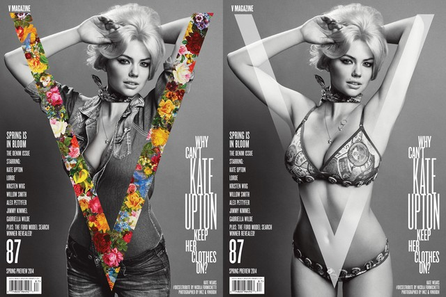 kate upton v mag cover Kate Upton Shows Off Curves on V Magazine #87 Cover