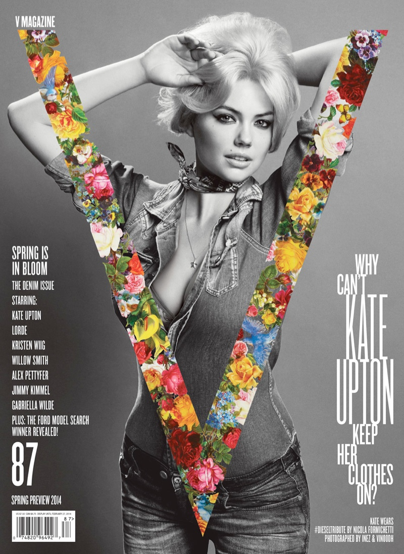 kate upton v magazine cover1 Kate Upton Shows Off Curves on V Magazine #87 Cover