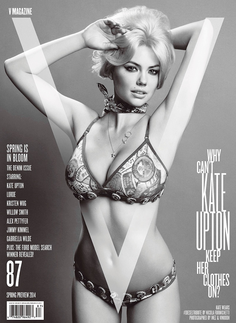 kate upton v magazine cover2 Kate Upton Shows Off Curves on V Magazine #87 Cover