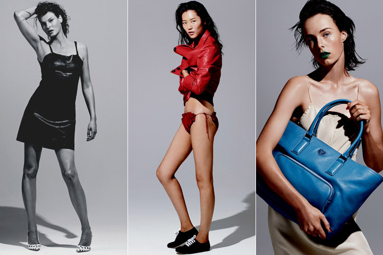 Liu Wen, Linda Evangelista, Edie Campbell for Katie Grand Loves Hogan Spring 2014