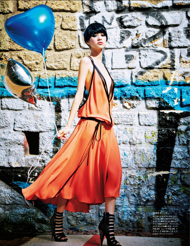 kiko gucci shoot5 Kiko Mizuhara Charms in Gucci for Ellen von Unwerth in Vogue Japan