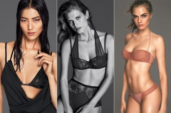 More Images of La Perla's Spring Campaign with Cara, Liu + Malgosia!