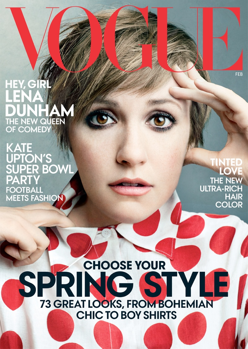 lena dunham vogue1 Lena Dunhams Vogue Cover Has Arrived