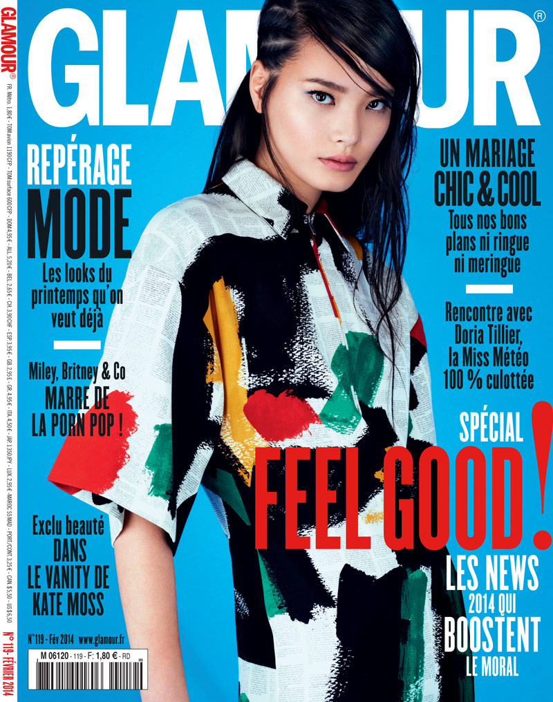 li wei cover Li Wei Wears Spring Prints for Naomi Yang in Glamour France