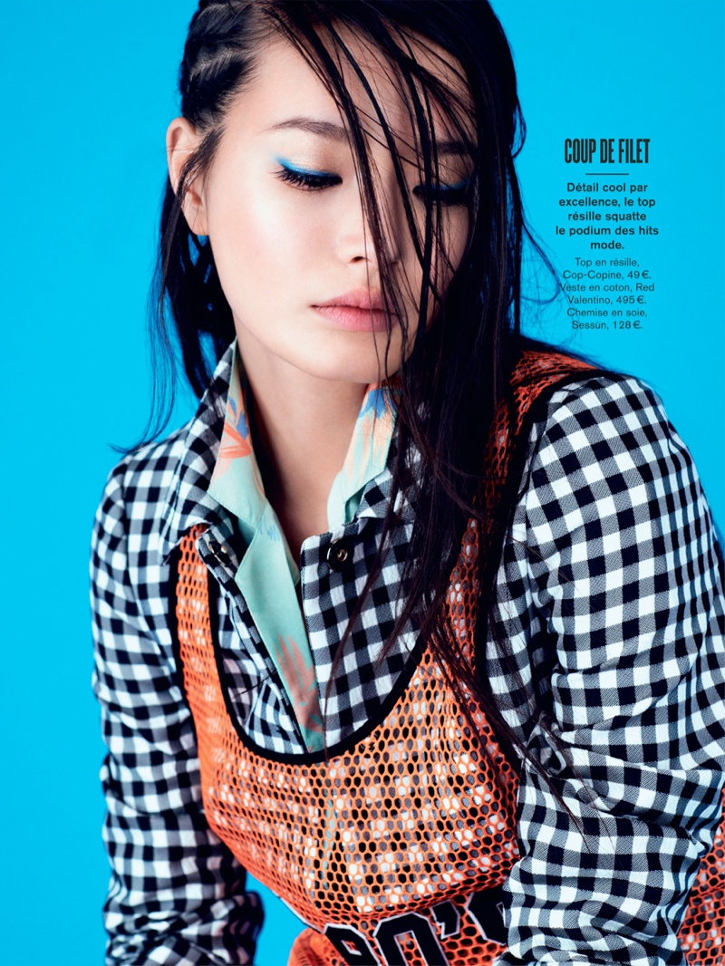 li wei naomi yang8 Li Wei Wears Spring Prints for Naomi Yang in Glamour France