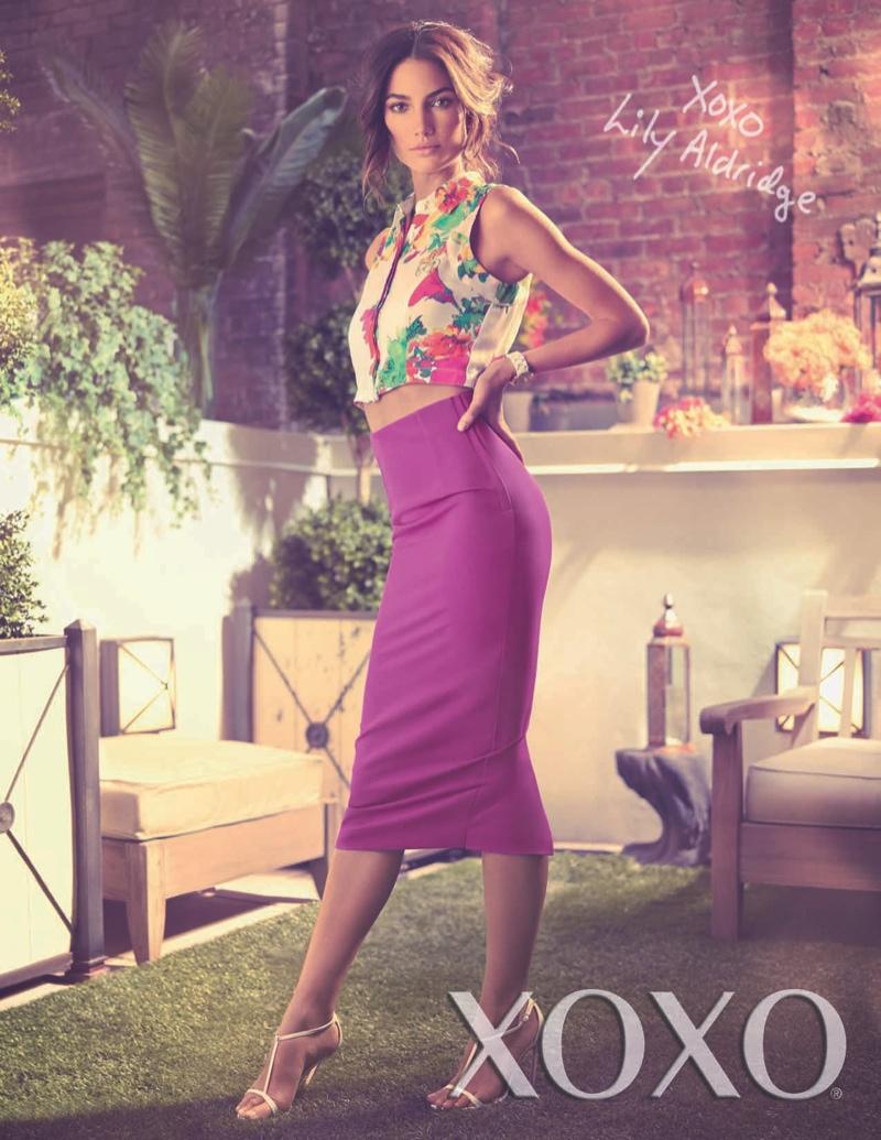 lily aldridge xoxo campaign2 Lily Aldridge Stars in XOXOs Spring/Summer 2014 Campaign