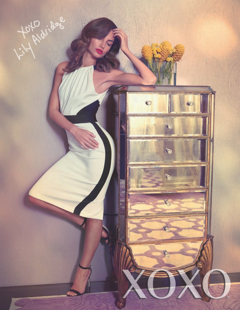 lily aldridge xoxo campaign3 Lily Aldridge Stars in XOXOs Spring/Summer 2014 Campaign