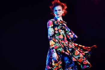 Sansa Wears Colorful Florals for Luisa Via Roma Shoot