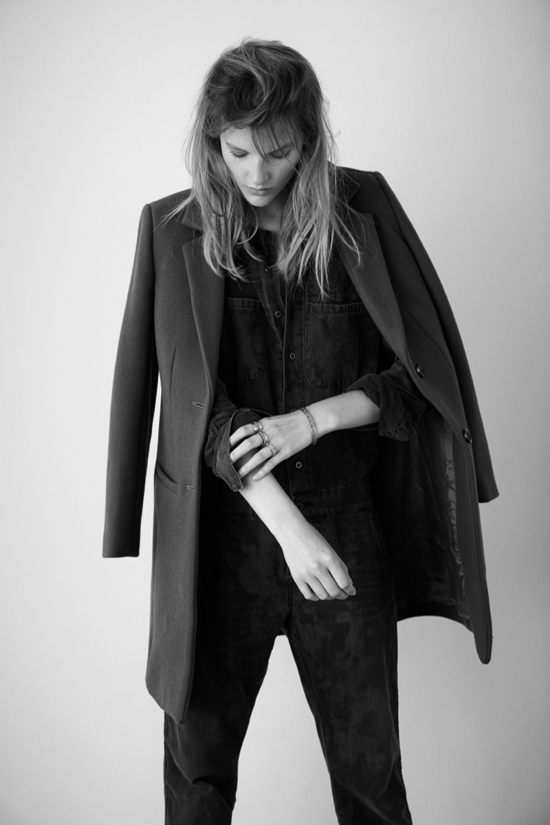 Sara Blomqvist Models Madewell, Shot by Eric Guillemain
