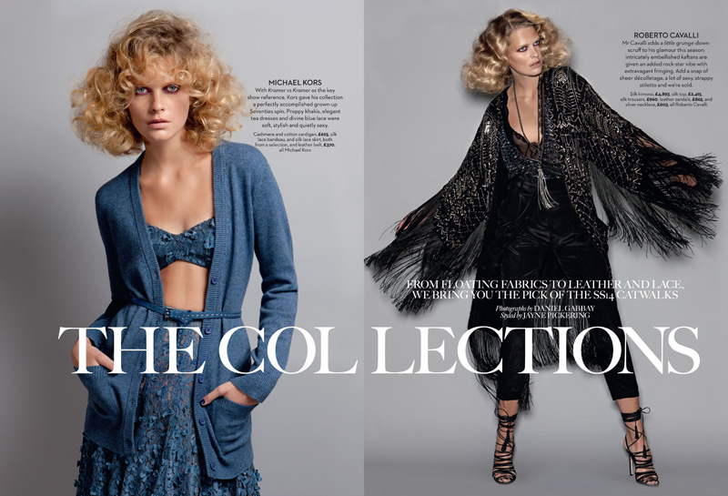 mariejayne1 Michaela Hlavackova Models Spring Collections for Marie Claire UK