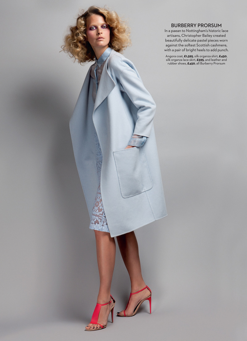 Michaela Hlavackova Models Spring Collections for Marie Claire UK