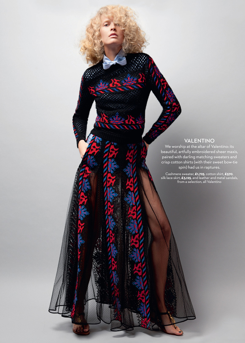 mariejayne5 Michaela Hlavackova Models Spring Collections for Marie Claire UK