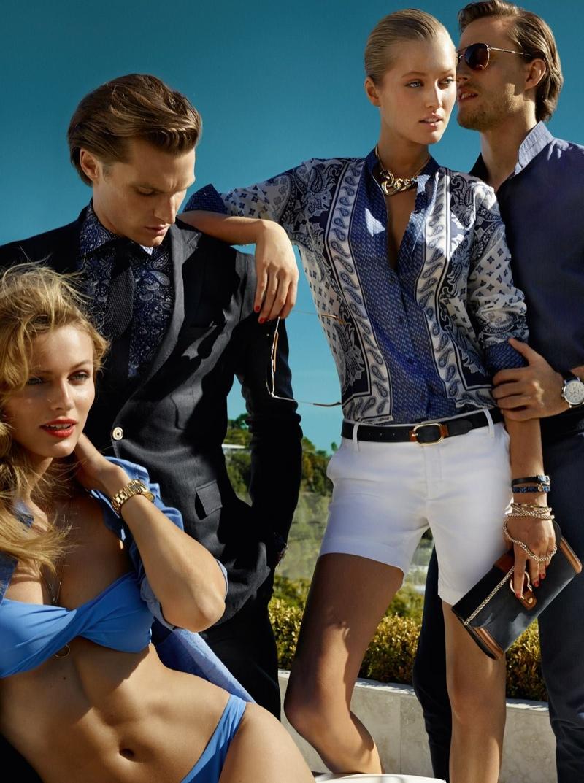 Toni Garrn + Edita Vilkevicute Pose for Massimo Dutti Spring/Summer 2014 Campaign