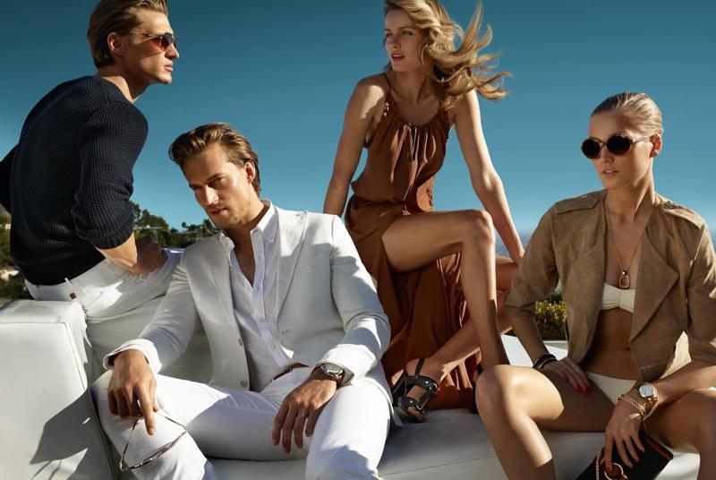 massimo dutti spring 2014 campaign3 Toni Garrn + Edita Vilkevicute Pose for Massimo Dutti Spring/Summer 2014 Campaign