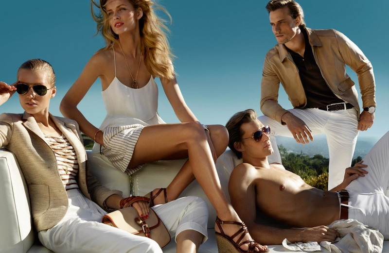 massimo dutti spring 2014 campaign4 Toni Garrn + Edita Vilkevicute Pose for Massimo Dutti Spring/Summer 2014 Campaign