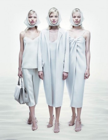 Hana, Stef + Natalia Front Max Mara Spring/Summer 2014 Campaign