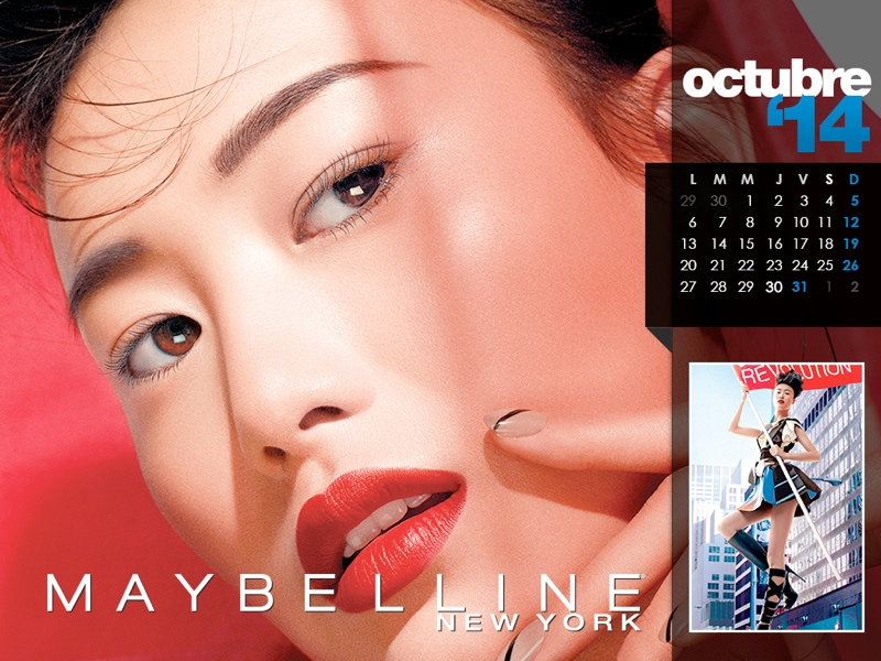 maybelline calendar 2014 10 Maybelline 2014 Calendar with Frida Gustavsson, Erin Wasson + More