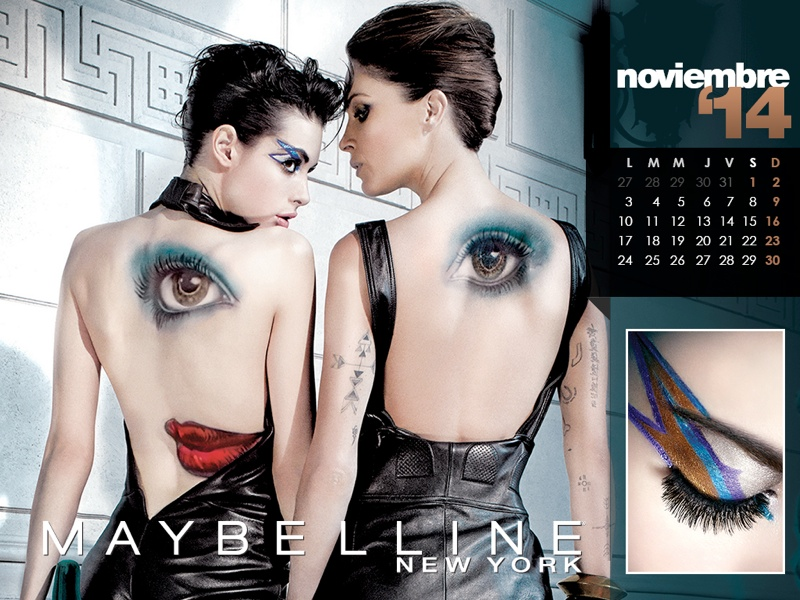 maybelline calendar 2014 11 Maybelline 2014 Calendar with Frida Gustavsson, Erin Wasson + More