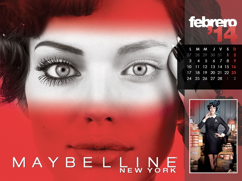 maybelline calendar 2014 2 Maybelline 2014 Calendar with Frida Gustavsson, Erin Wasson + More