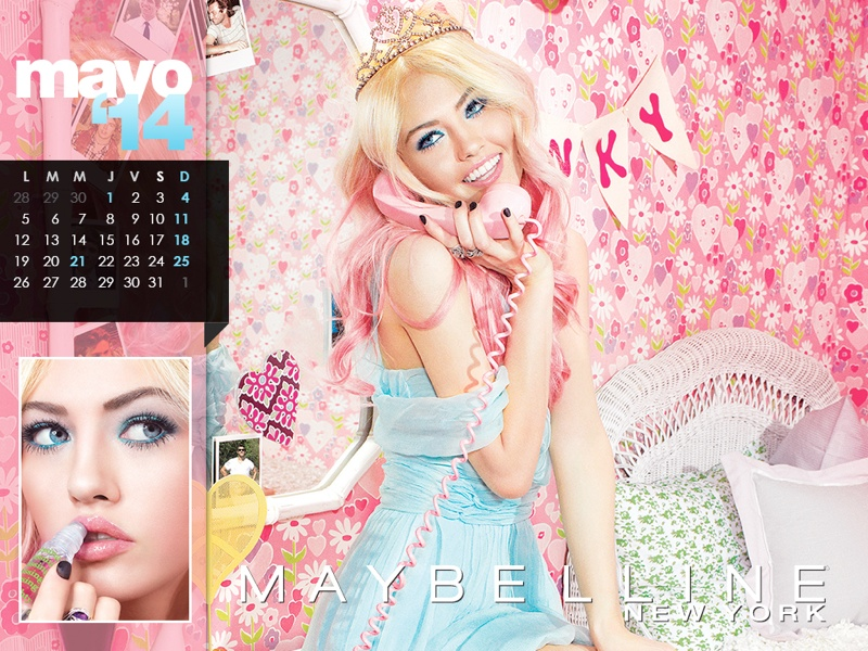 maybelline calendar 2014 5 Week in Review | La Perla Ladies, Spring at H&M, Miley Gets Moody