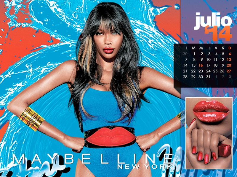 maybelline calendar 2014 7 Maybelline 2014 Calendar with Frida Gustavsson, Erin Wasson + More