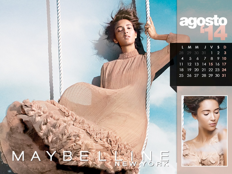 maybelline calendar 2014 8 Maybelline 2014 Calendar with Frida Gustavsson, Erin Wasson + More