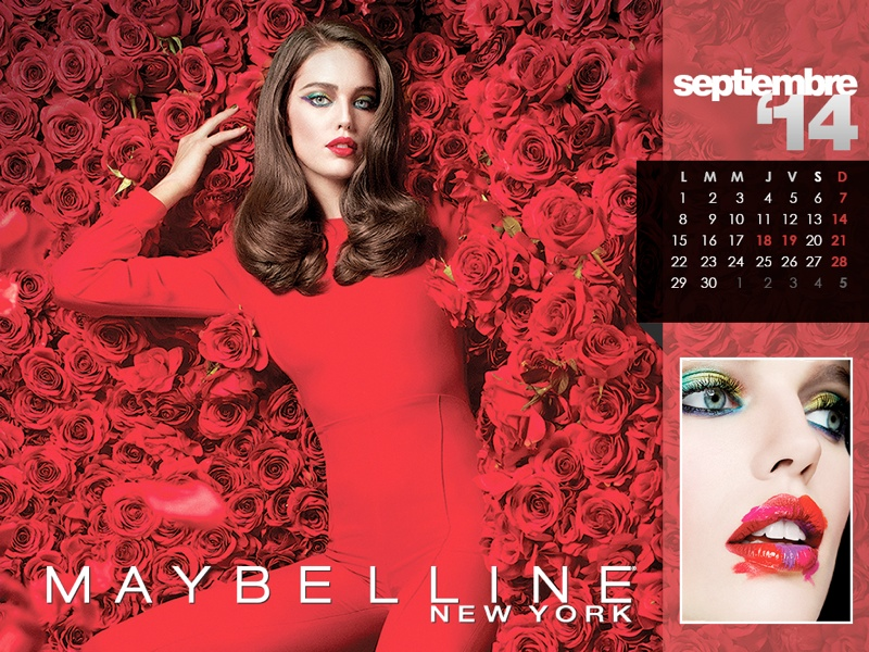 maybelline calendar 2014 9 Maybelline 2014 Calendar with Frida Gustavsson, Erin Wasson + More