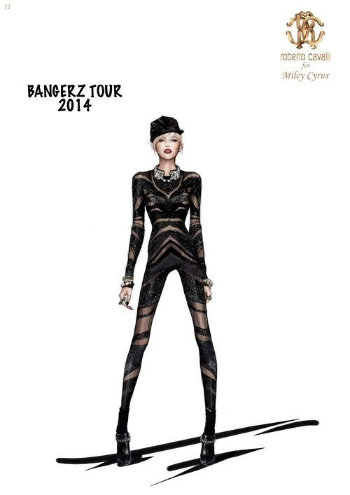 miley cavalli bangerz tour1 See Miley Cyrus Bangerz Tour Costumes by Roberto Cavalli