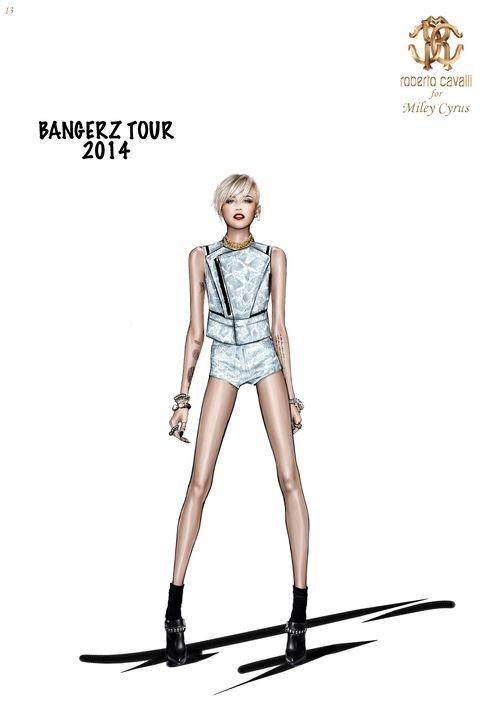 miley cavalli bangerz tour4 See Miley Cyrus Bangerz Tour Costumes by Roberto Cavalli