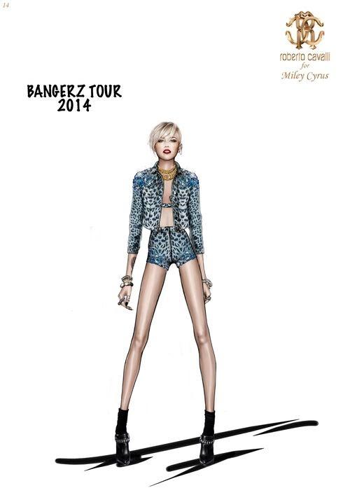 miley cavalli bangerz tour5 See Miley Cyrus Bangerz Tour Costumes by Roberto Cavalli