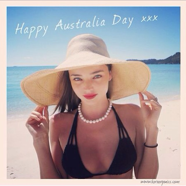 miranda australia day Instagram Photos of the Week | Toni Garrn, Bar Refaeli, Behati Prinsloo + More