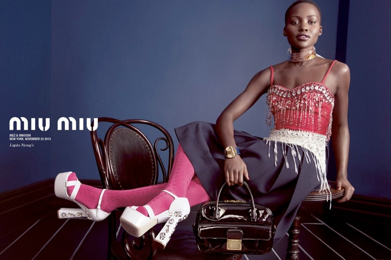 Miu Miu Taps Lupita Nyong'o, Elle Fanning + More for Spring 2014 Ads