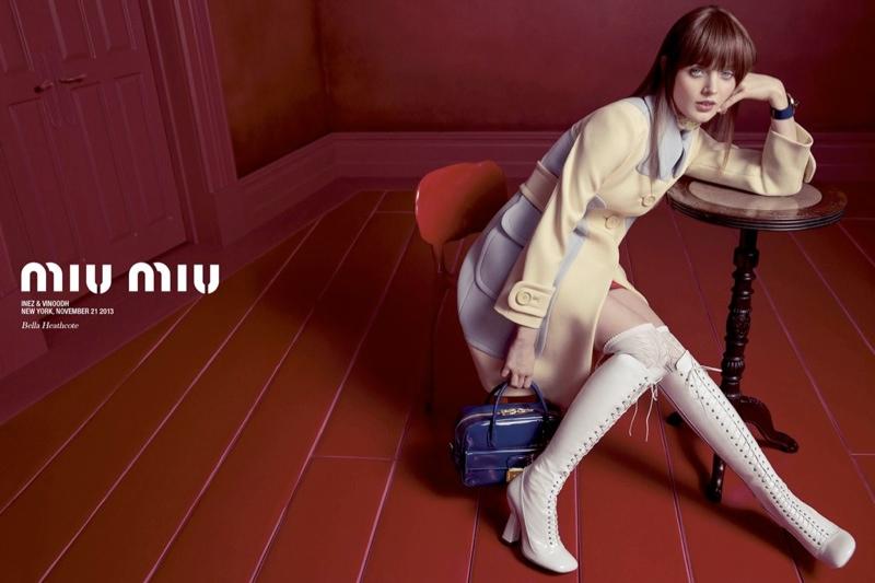 miu miu spring 2014 campaign2 Miu Miu Taps Lupita Nyongo, Elle Fanning + More for Spring 2014 Ads