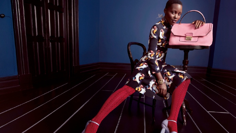 miu miu spring ads photos11 More Photos from Miu Mius Spring 2014 Ads with Elle, Lupita, Bella + Elizabeth