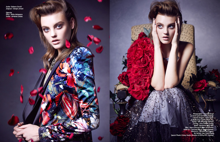 Montana Cox Gets Rosy for Schon Shoot by Caroline Knopf